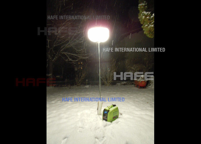 Rechargeable Portable Tripod LED Work Lights Halogen Balloon Anti Glare Hicase Packing