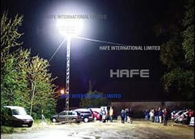 Halogen Brilliantly Illuminate Portable Light Towers Anti Glare Customized Logo Outside