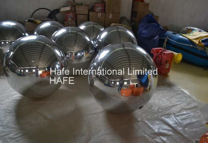 1M Mirror Ball Inflatable Lighting Decoration Red Silver Green Blue Pink Color