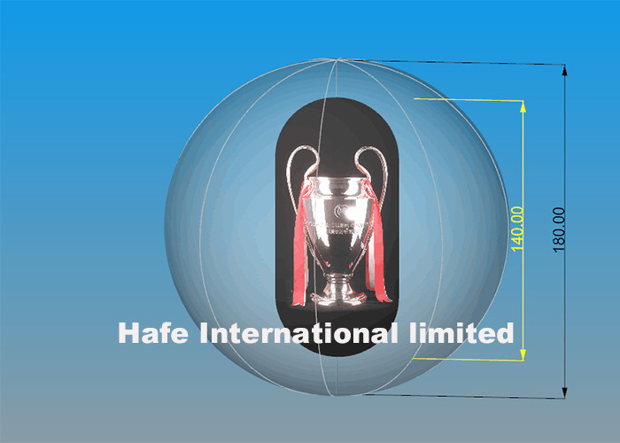 2.5m High Standard PVC Air Balloon Advertising With Champion Trophy Inside